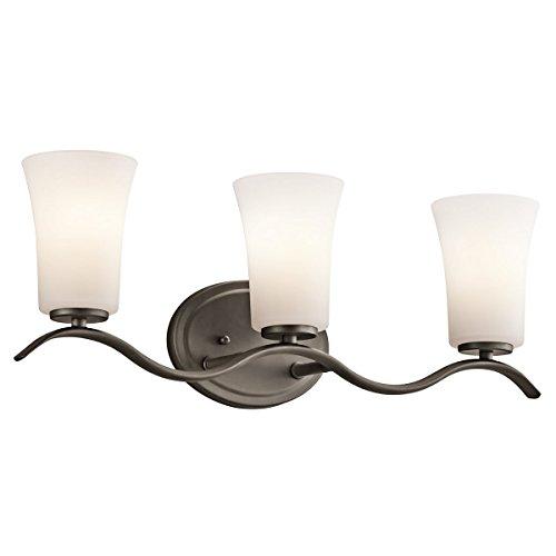 31DLM2pAZWL - Kichler Lighting Armida Olde Bronze 3 Arm Bathroom Wall Sconce w/ 3 Light 9W