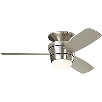 Harbor breeze mazon 44 in brushed nickel flush mount indoor ceiling harbor breeze mazon 44 in brushed nickel flush mount indoor ceiling fan with light kit mozeypictures Image collections