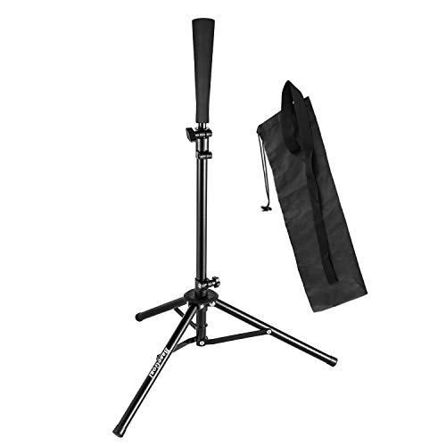 BaseGoal Batting Tee Baseball Tee Softball Travel Portable Tee Tripod Stand Rubber Tee for Batting Training Practice with Carrying Bag (Easton Deluxe Batting Tee)