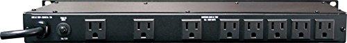 Acondicionador de energía de nivel estándar Furman M-8Lx, 15 amperios, 9 tomacorrientes con espacio para verrugas en la pared, luces extraíbles