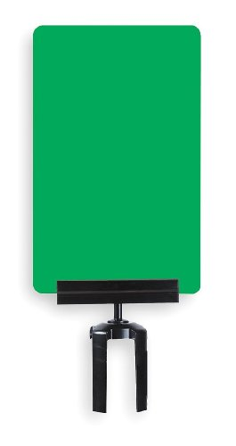 11'' x 7'' Acrylic Sign Frame for Tensabarrier Post Type of Sign: Please Wait Here / Green / White writing by Tensator