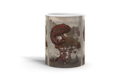 - Ceramic Coffee Mug Phantasy Imagination Cup Autumn Chameleon Fantasy Dream Drinkware Super White Mugs Family Gift Cups 11oz 325ml