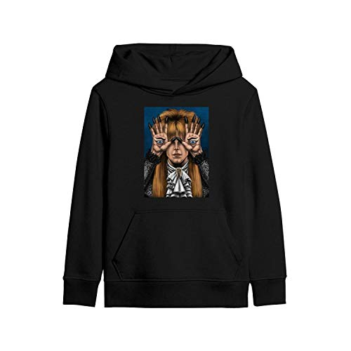 SDHAK Kids Hoodies Sweatshirt Pan's-Labyrinth-Starring-David-Bowie- Classic Pullover Hoodie Sweater Printed Black