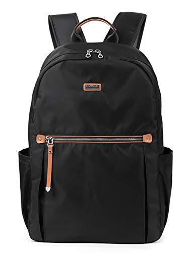 Backpack Black Daypack Travel School Bag Waterproof Fashion Nylon 285801 Fouvor zw54Upqx