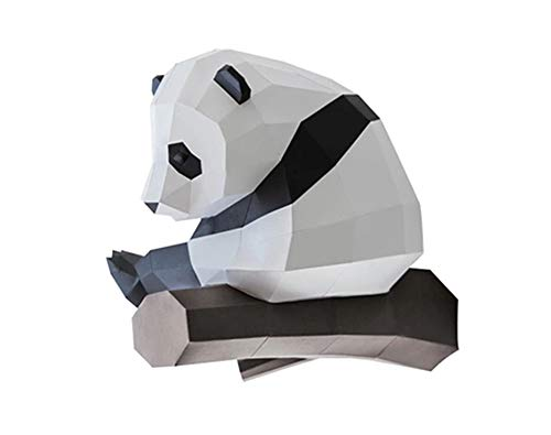 DIY High Difficulty Handmade Panda Origami Wall Hanging 3D Three-Dimensional Paper Crafts, Suitable for Home Or Christmas Party Decoration]()