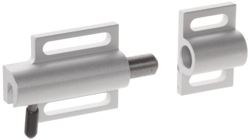 Faztek 15 Series Aluminum 6063-T6 Side Release Deadbolt Latch with Clear Anodize, 3 Length x 1-1/2 Width by Faztek