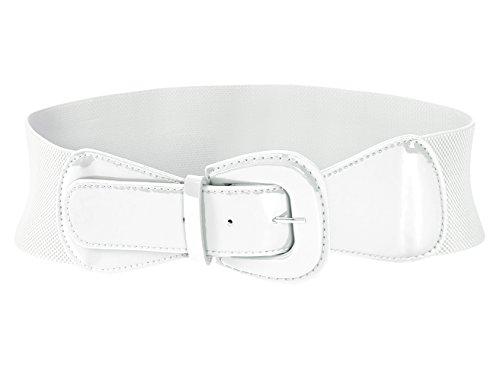 MUXXN Women's Belts Solid Color Wide Elastic Stretchy Retro Cinch Belt (S: 31.5