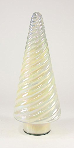 Cody Foster Swirled Opalescent Glass Christmas Tree Light Yellow -  MS-426-YS