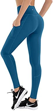 LifeSky Yoga Pants for Women, Comfy High Waisted Leggings with Pockets, Tummy Control Elastic 4 Way Stretch Fa