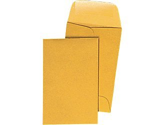 #1 Coin Envelopes – 25 Envelopes – 2-1/4″ x 3-1/2″