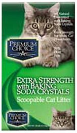 Premium Choice Extra Strength with Baking Soda Scoopable Cat Litter, 25 Pound Bag