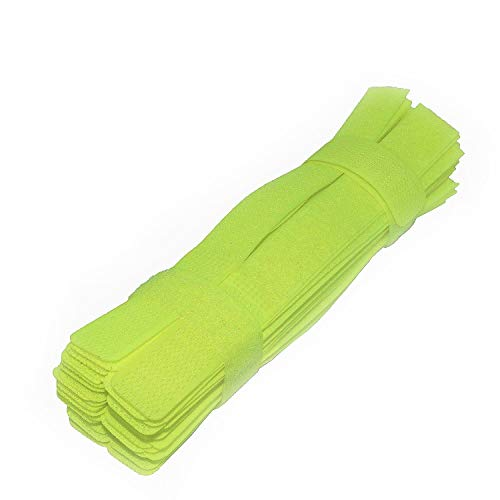 Pasow 50pcs Cable Ties Reusable Fastening Wire Organizer Cord Rope Holder 7 Inch (Green)