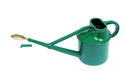 Bosmere Haws Deluxe Plastic Watering Can, 1.8-Gallon/7-Liter, Green (Green Metal Watering Can)