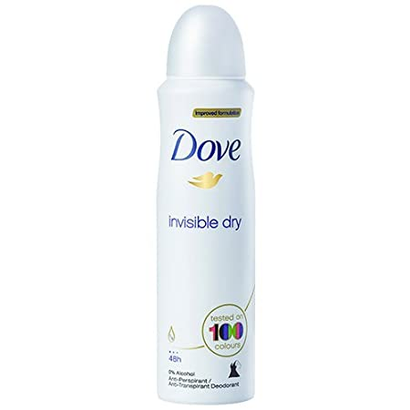 (2 PACK) DOVE Dry Spray Antiperspirant 48 hours, (Invisible Dry) 5oz