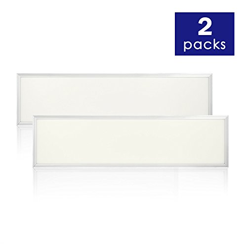 1 Light Drop Light - EVE UL LED Panel 2-Pack Light, Daylight, DLC V4.2 Premium UL cUL Qualified, Eligible for Nationwide Rebate Programs Flat Ceiling Light Board (4000K(Soft White), 1x4ft 36w)