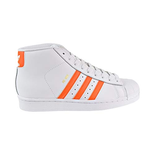 official photos 5de58 b37ae adidas Originals Boys PRO Model J Running Shoe, WhiteEnergy Orange  MetallicGold, 5.5 M US Big Kid