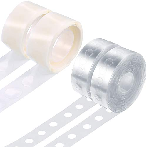 Balloon Arch Garland Decorating Strip Kit 2 Rolls 16 Feet Balloon Tape Strips with 2 Rolls Balloon Glue Point Dots Stickers (Balloon Strip Sent Randomly) -