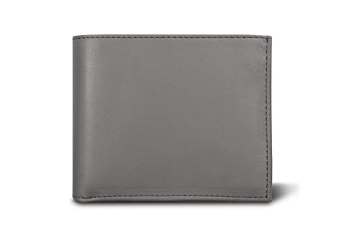 in cow grey Smooth Wallet Lucrin Dark parts 3 Leather F5qPnwA