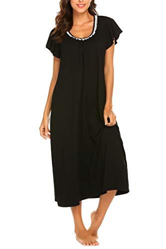Ekouaer Women's Cotton Fleece Hooded One Piece Pajama Union Jumpsuit