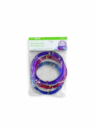 FloraCraft Aluminum Wire Value Pack - 3 Yard Red, 3 Yard Blue, 3 Yard Purple