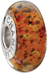 Authentic Chamilia RETIRED Fortuna Murano Glass Bead * Sterling Silver 2110-1105