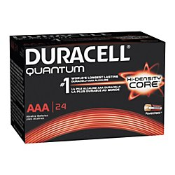 Duracell Quantum Alkaline AAA Batteries, Pack Of 24, Case Of