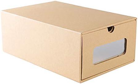 Gaoominy Perspectiva de Zapatos Caja de Almacenamiento Transparente Aumentar la Caja de Almacenaje Respetuosa del Medio Ambiente Caja de Zapatos de Cuero Plegable de Tipo Cajón Deportivos: Amazon.es: Hogar