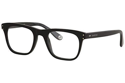 Gucci Gucci Logo GG 0476O 006 Black Plastic Rectangle Eyeglasses 51mm (Gucci Modell-nummer)