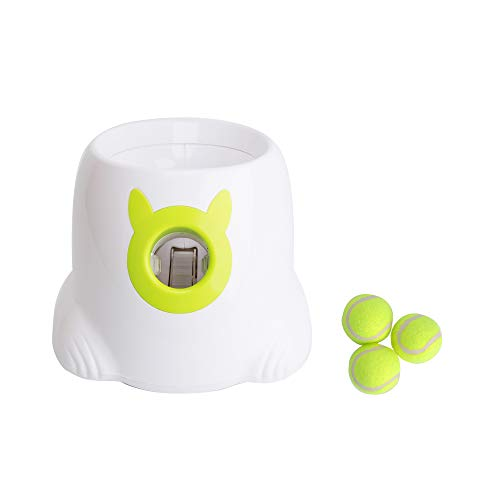 KARMAS PRODUCT Interactive Ball Launcher for Dogs with Tennis Balls,Tennis Ball Throwing Machine for Trainning
