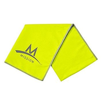 MISSION Enduracool Microfiber Towel, Large, Lime Green