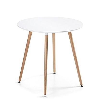 Table Ronde 80 Cm Pied Central.Designetsamaison Table A Manger Ronde Scandinave Blanche 80cm Alta