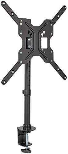 VIVO Black Ultra Wide Screen TV Desk Mount for up to 55 inch Screens, Full Motion Height Adjustable Single Television Stand STAND-V155C
