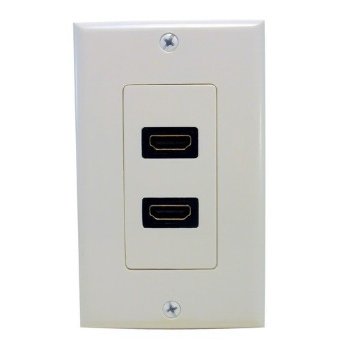 Morris 80444 Dual HDMI Home Entertainment Wall Plate Morris Products