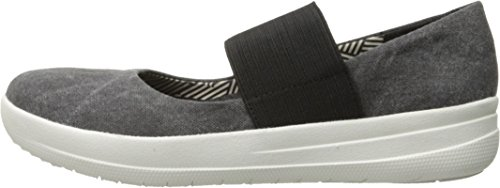 FitFlop Women's F-Sporty Mary Jane Flat, Black, 8.5 M US by FitFlop (Image #5)