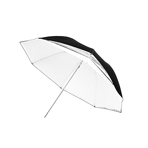 Fovitec - 1x 40 inch Translucent Photography & Video Convertible Reflector Umbrella - [EZ Set-up][Lightweight][Cast-Iron][Collapsible][Durable Nylon] by Fovitec