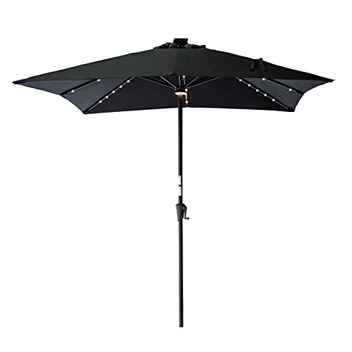C-Hopetree Square Lighted Outdoor Patio Market Umbrella 7'6