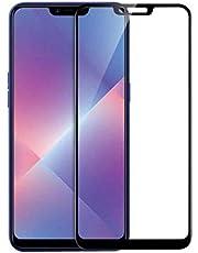 شاشة حماية من الزجاج المقوي مضاد للخدوش وبتغطية كاملة لموبايل ريلمي C1، سوداء