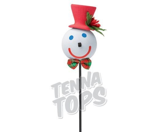 Jack in the Box - Dashing Red Car Antenna Topper + Yellow Smiley Antenna Ball