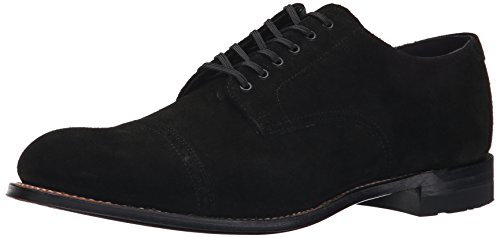 Stacy Adams Men's Madison Oxford, Black Suede, 10.5 D US