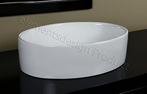Bathroom Ceramic Vessel Sink 7151L3 With Brushed Nickel Faucet Drain