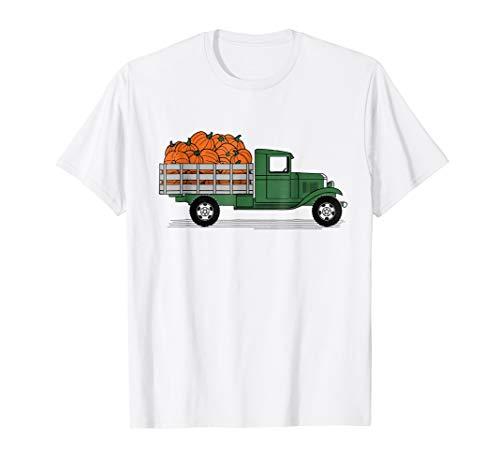 Cute Pumpkin Truck T Shirt Gift - Halloween Pumpkin Truck