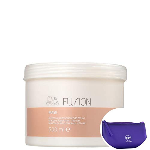 Wella Professionals Fusion - Máscara Reconstrutora 500ml +Nécessaire Roxo Beleza na Web