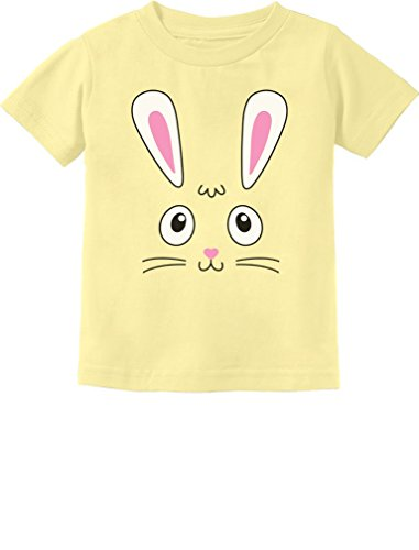 Tstars Little Easter Bunny Face Holiday Gift Cute Toddler Kids T-Shirt 3T Banana (Easter Bunny Yellow T-shirt)