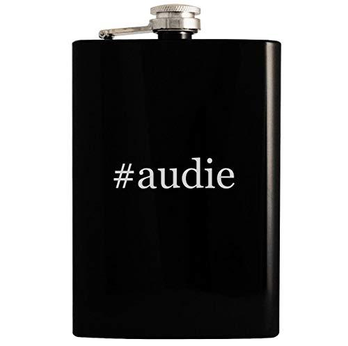 #audie - 8oz Hashtag Hip Drinking Alcohol Flask, Black