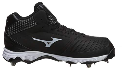 Mizuno Women's 9-Spike Advanced Sweep 4 Mid Metal Softball Cleat Shoe, Black/White 7.5 B US by Mizuno (Image #6)