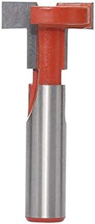 1Pc T-Slot-Fräser 12 mm Griff Slot Graviermaschine zur Holz Gerade Flansch-T-Shaped Fräswerkzeuge B