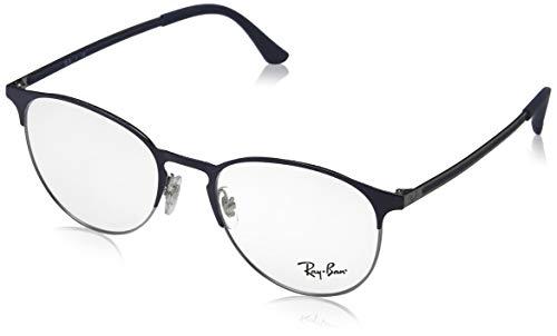 Ray-Ban Unisex RX6375 Eyeglasses Gunmetal On Top Blue ()