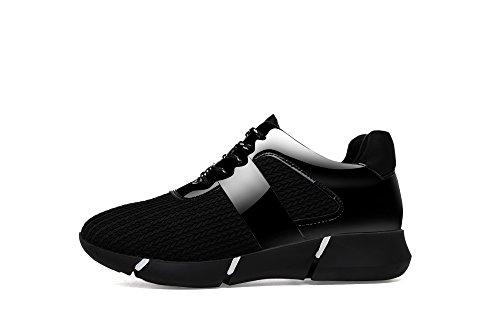 Las mujeres de invierno forro de piel Casual zapatillas de running ligero moda transpirable al aire libre Ejercicio Athletic zapatillas Negro