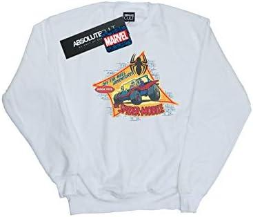 Marvel Herren Spider-Man The Spider Mobile Sweatshirt Weiß Medium