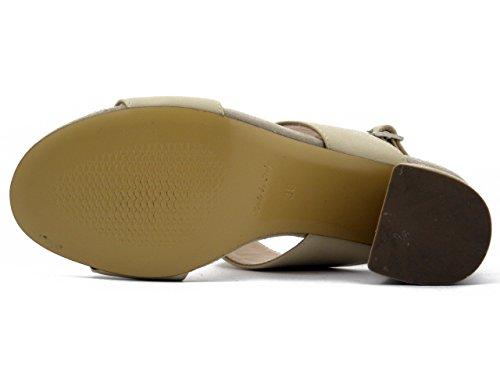 Pelle Tacco 7cm Beige E Sandalo 4013 In Martina Camoscio wqRZf